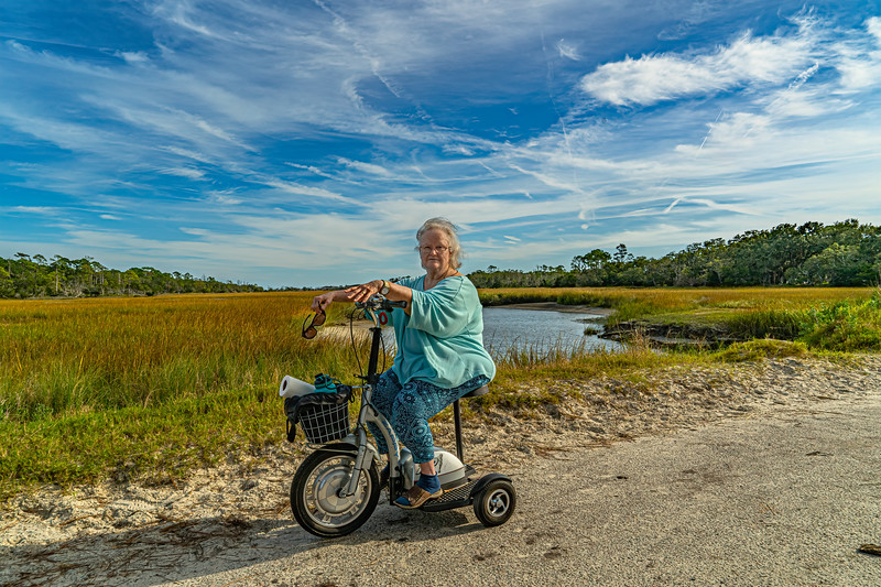 Leatrice Enjoying a Ride in the Marsh