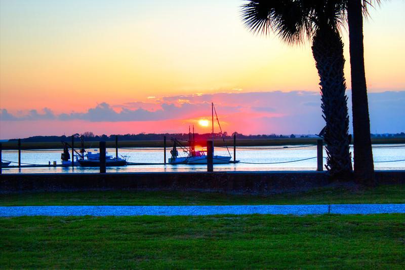 Sunset Jekyll Island one raw photo