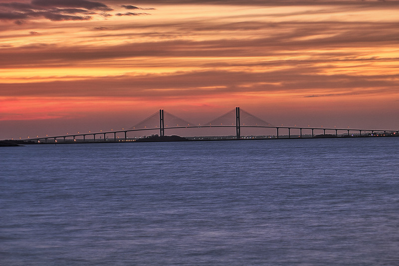 Sunset Sidney Lanier Bridge