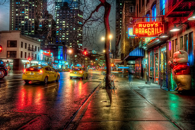 Rainy 9th Avenue in Hells Kitchen