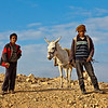 BEDOUINS WITH DONKEY. DEAD SEA. JORDAN. edit