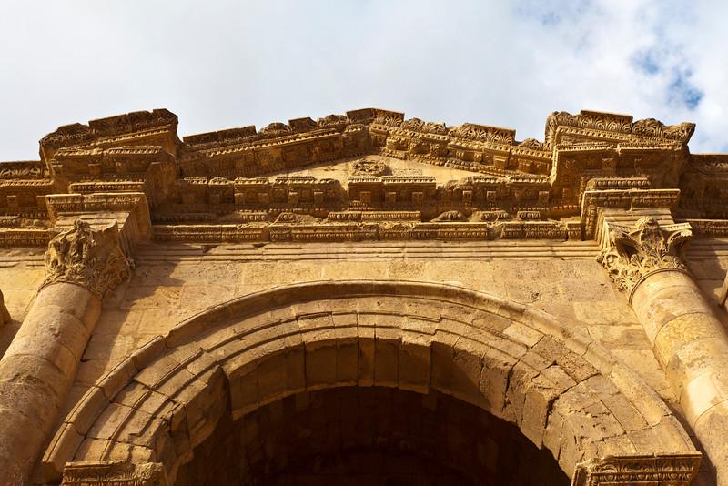 JERASH. ROMAN CITY. HADRIAN'S ARCH (TRIUMPHAL). JORDAN.