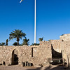 AQABA. CASTLE WITH JORDAN FLAGPOLE.