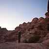 LITTLE PETRA. AN UNESCO WORLD HERITAGE SITE. AFTERNOON PRAYER. [3] JORDAN.