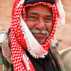 PETRA. UNESCO WORLD HERITAGE SITE. A BEDOUIN MAN. JORDAN.