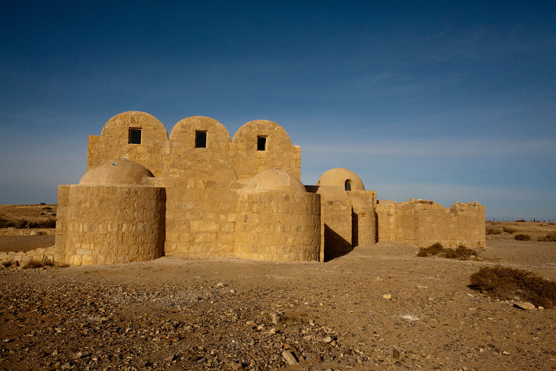 QASR AMRA CASTLE. BATH HOUSE. DESERT CASTLES. JORDAN. MIDDLE EAST.