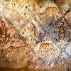 AMRA CASTLE. MURALS IN THE BATH HOUSE. DESERT CASTLES. JORDAN.