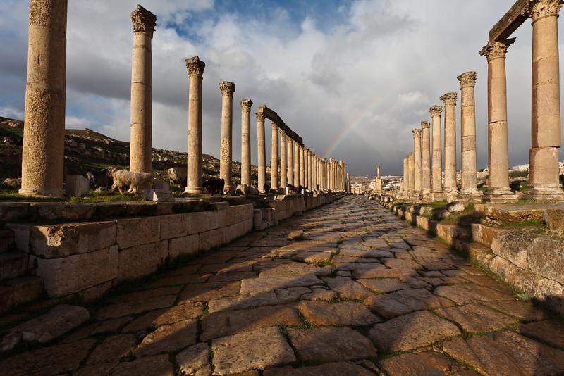 JERASH. CARDO MAXIMUS. ROMAN CITY. JORDAN.