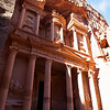 PETRA. UNESCO WORLD HERITAGE SITE. THE TREASURY. JORDAN.