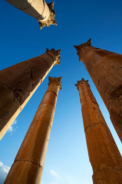 JERASH. ROMAN CITY. RUINS OF THE TEMPLE OF ARTEMIS. JORDAN. [2]