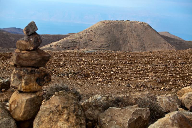 MKAWER. MOUNTAIN OF HERODUS CASTLE. JORDAN.