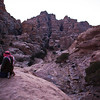 LITTLE PETRA. AN UNESCO WORLD HERITAGE SITE. AFTERNOON PRAYER. JORDAN.