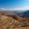KING'S HIGHWAY. WADI MUJIB GORGE. JORDAN. MIDDLE EAST.
