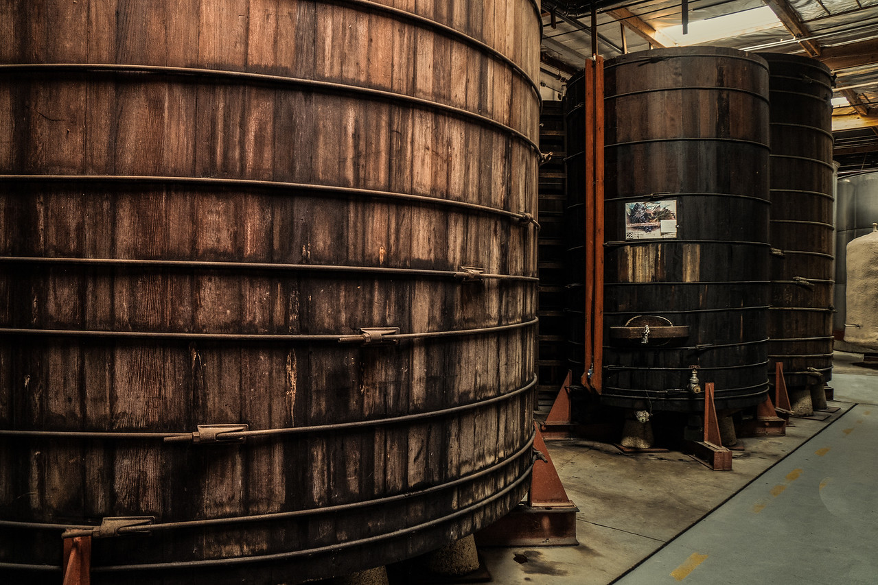 Redwood vats filled with port or sherry
