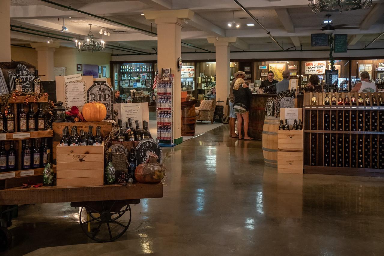 The tasting room at Joseph Filippi Winery