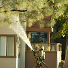 Fire fighting hosing roof.