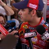 JOLIET, IL --Jeff Gordon answers questions from the press after a practice session for the 2005 Sheetrock 400.