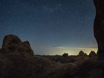 Trona Pinnacles Night Sky