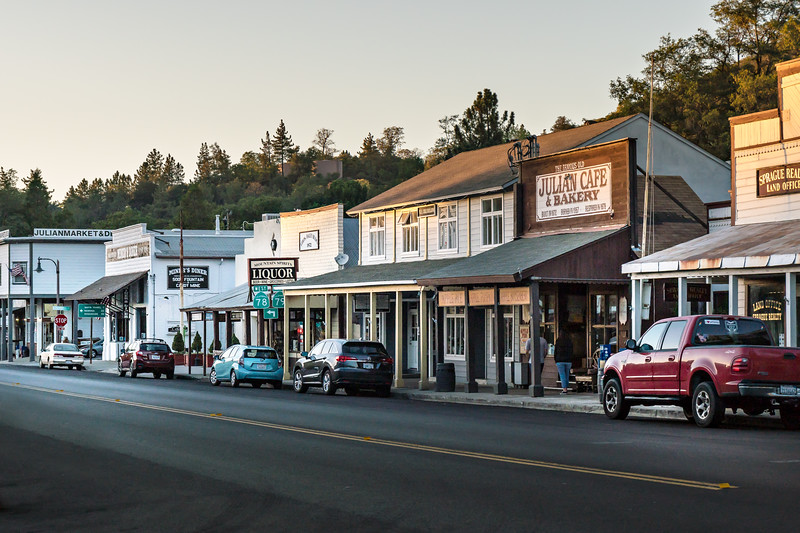 Shops along the main street of Julian, California