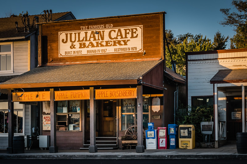 One of many bakeries in Julian, California