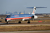 MD-80 of American Airlines at DFW