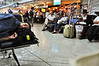 David Duminuco of Brooklyn rests on the  way to Israel for his Tag-lit Birthright Trip,during a brief lay-over in the Ukraine,
