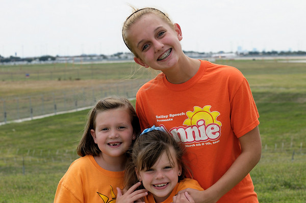 Some random girls who asked to have their picture taken. DFW Airport - Landings, etc.
