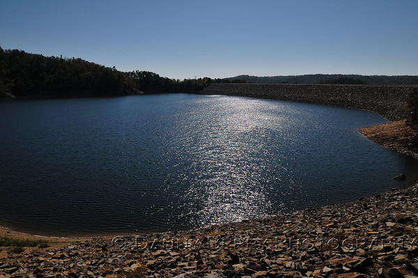 Broken Bow Lake at the dam.