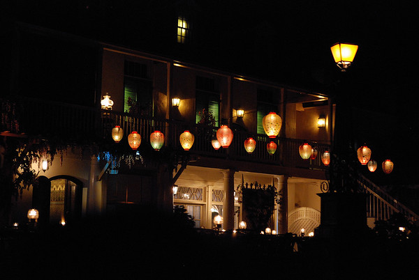 The Blue Bayou restaurant from aboard the POTC boat.