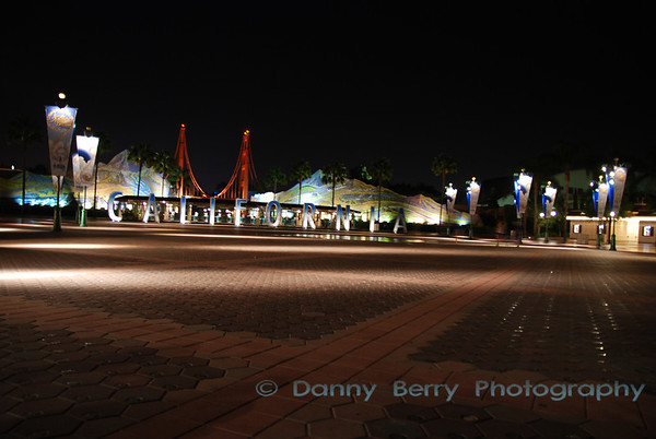 DCA entrance as we were leaving DL at closing (midnight).