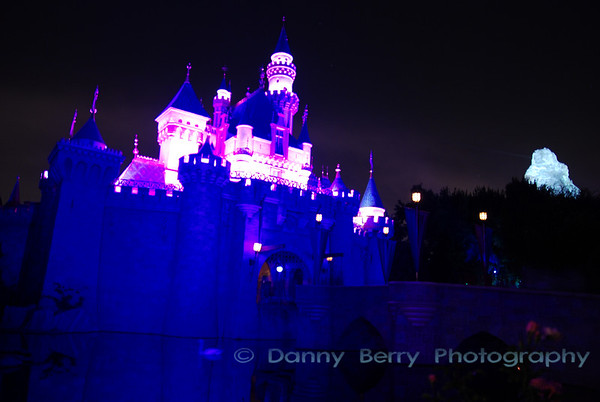 The castle and the Matterhorn.