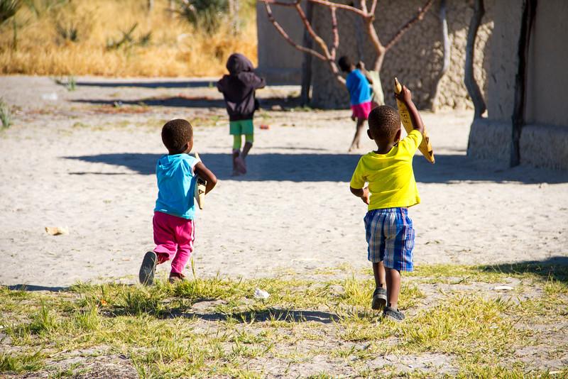 Xaxaba Village Children, Okavango Delta, Botswana, Africa