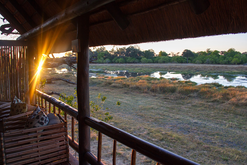 Sunrise at Khwai River Lodge