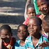 Playful Children of Xaxaba Village, Okavango Delta, Botswana, Africa