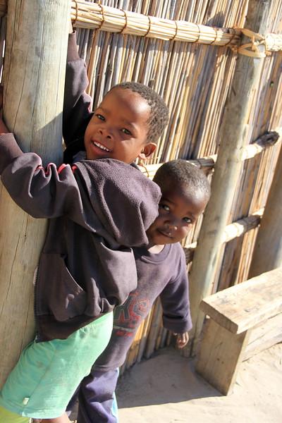 Beautiful Children of Xaxaba Village, Okavango Delta, Botswana, Africa