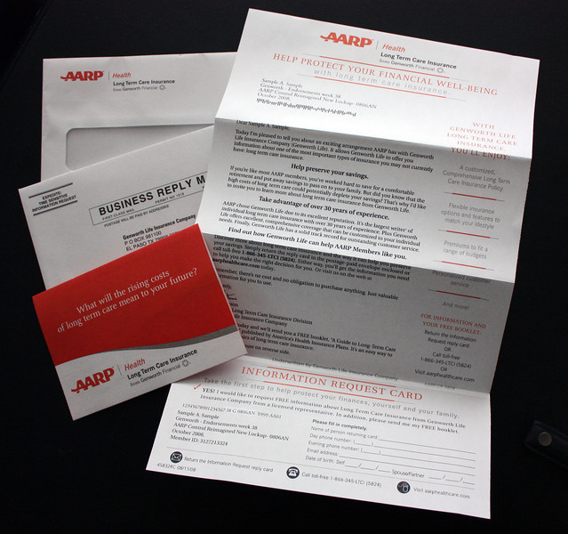 A sample of the type of direct mail I've worked on