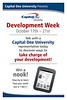 Large poster for Capital One University Development Week