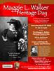 Maggie L. Walker Heritage Day 2009 poster