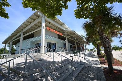 The Waveland Business Center is among several new municipal structures built post-Hurricane Katrian along Coleman Avenue.