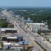 Motorists make their way along U.S. 49 in Gulfport.