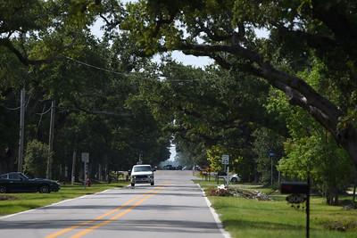 A motorist heads south along Nicholson Avenue in Waveland.