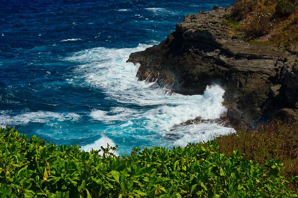 Kilauea Point's Crashing Waves
