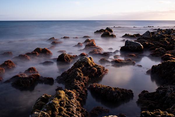 Poi pu Beach at Sunset