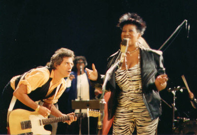 Kieth Richards and Aretha Franklin