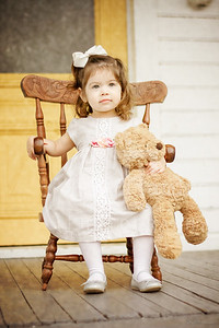 2 Year Photo Shoot- Girl with Bear