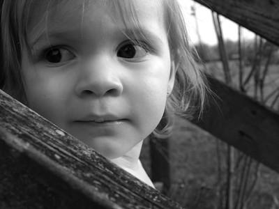 2 Year Photo- Black and White