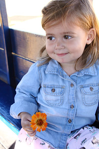 3 Year Photo- Young Girl with Flower