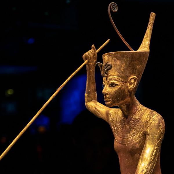 Detail of Tutankhamun with a harpoon