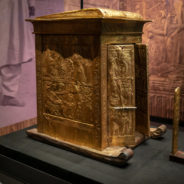 Golden chest in the shape of a shrine