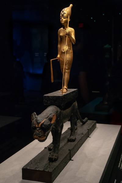 King Tutankhamun upon a Panther